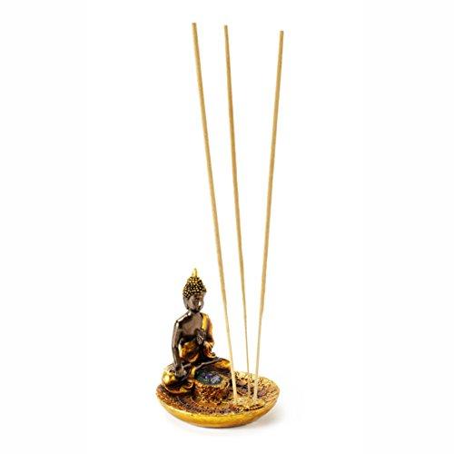 """Pajoma Räucherstäbchenhalter """"Buddha"""" aus Polyresin, H 9 x Durchmesser 8,5 cm"""