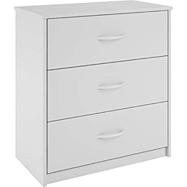 Mainstays 3-Drawer Dresser 3 easy-glide drawers (White)