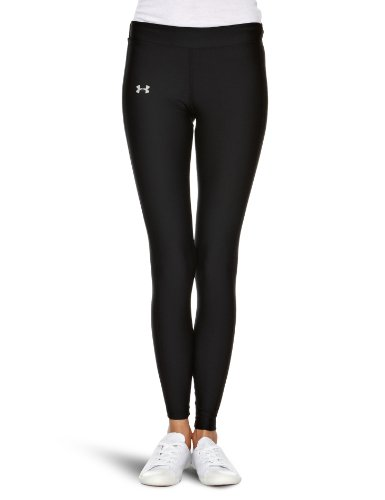 Under Armour Women's ColdGear Compression Leggings , Medium, Black/Silver
