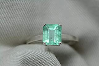 uncut emerald ring