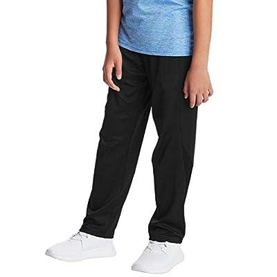 C9 Champion Boys' Open Leg Athletic Pants, Ebony, S