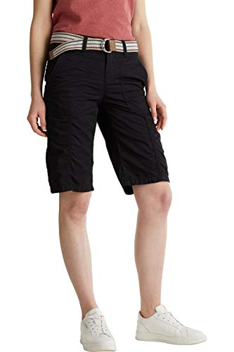 ESPRIT Damen 030EE1C310 Shorts, 001/BLACK, 38