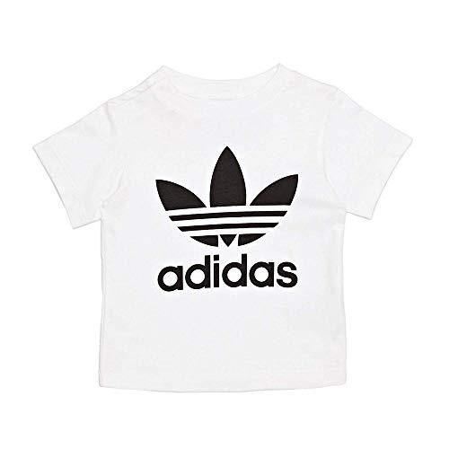 adidas I TRF - Maglietta da Bambino, Bimbo 0-24, Maglietta, CE4316, Bianco/Nero, 74-6/9 Meses
