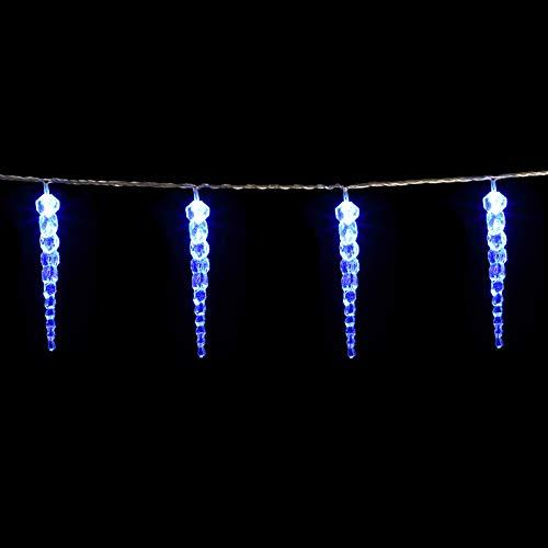 Monzana LED Lichterkette Eiszapfen Außen Innen Blau 80 Zapfen 13m Weihnachten Deko Beleuchtung Weihnachtsdeko Outdoor