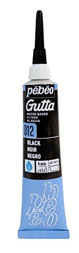 PEBEO 20ml Setasilk Seidenmalerei Wasserbasierte Gutta Tube, schwarz