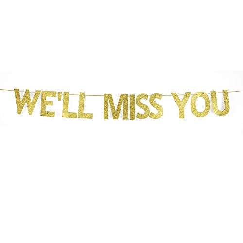 Black We Will Miss You Banner Graduation Going Away Retirement Party Decorations Farewell Party Decorations Supplies