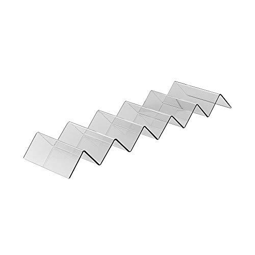 Snackwelle aus Acrylglas / 150 mm Breite / Brötchenhalter / Baguettehalter / Ideal zur Warenpräsentation / Gastronomie