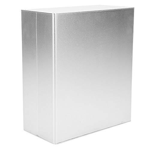 DIY Electronic Enclosure Shell, bequemes mattes Silber, langlebiges Aluminiumgehäuse, für elektronische Produkte PCB Junction Aluminium Box