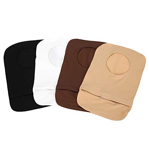 4 fundas elásticas ligeras para bolsas de colostomía o estomas.