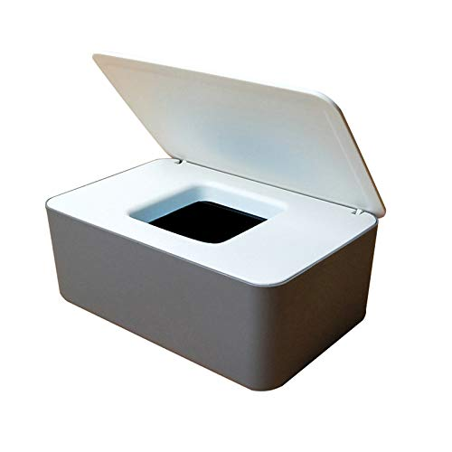 Fnsky Caja de almacenamiento para toallitas húmedas Toallitas secas y mojadas Papel de seda Servilletero Toallitas húmedas Dispensador con tapa para hogar y oficina