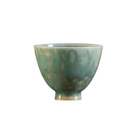 YANGYUAN Decorative Cups Multipurpose Teaware Zen-inspired Teacups Chinese Ceramic Tea Mug Porcelain Tea Cup Use for Hot & Cold Drinks Gift Tea Cups