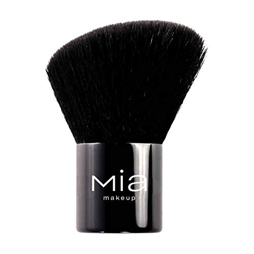 MIA Makeup Kabuki Brush - Brocha de maquillaje de pelo largo y suave, para distribuir uniformemente el producto sin dejar marcas