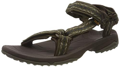 Teva Terra Fi Lite Sandal Mens, Sandalias con Correa de Tobillo Hombre, Rambler Dark Olive Dov, 49.5 EU
