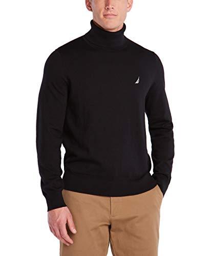 Nautica Men's Navtech Turtleneck Sweater, True Black, Medium