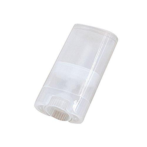 10 pcs/15ml Plastique Transparent Vide récipient Déodorant Baume à lèvres Tubes Brillant à lèvres Boîte Support avec Bouchons