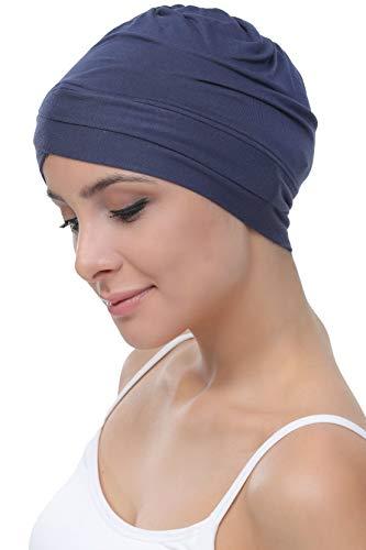Deresina W gorro de algodón para la quimioterapia, la pérdida de cabello (Denim)