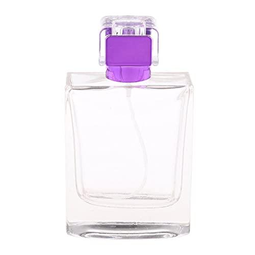 100ml Botellas De Perfume Atomizador Portátil con Bomba del Pulverizador Vaciado De Contenedores De Estética para Purple Viajeros