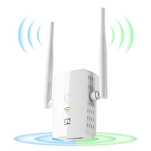 Repetidor WiFi 1200Mbps, 2.4 GHz/ 5Ghz, Amplificador Señal de WiFi Extensor,2 Antenas Externas,Repetidor Inalámbrico con Botón WPS, Fácil de configurar