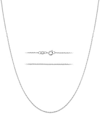 KISPER Sterling Silver Over Stainless Steel 1 5mm Thin Cable Link Chain Necklace 24 inch product image