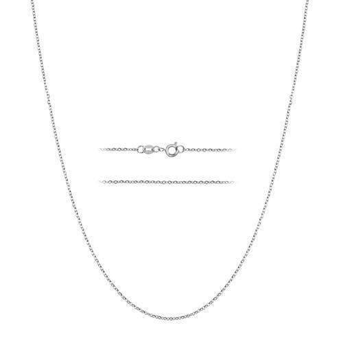 MAJU Designers Collar de Cadena de eslabones de Plata de Ley sobre Acero Inoxidable de 1,5 mm de Grosor, 14-30 Pulgadas