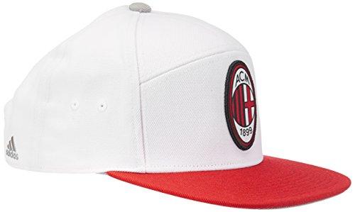 adidas AC Milan Anthem Gorra para Hombre, para Pared (Core White/CH Gris/Rojo/Negro), Talla única, AA3031