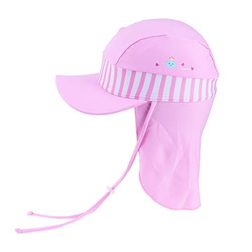 LIOOBO Baby, Kleinkind Kinder Sonnenschutz Sportlich Flap Badehut UV Flap Cap Pink