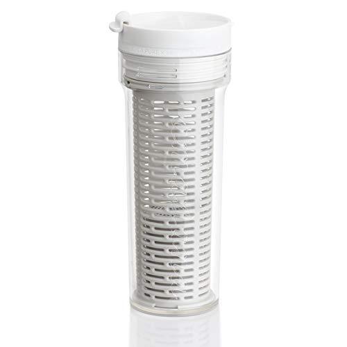 タンブラー型浄水器 「シリカピュア×amadana タンブラー」(ホワイト)水道水で作るシリカ水