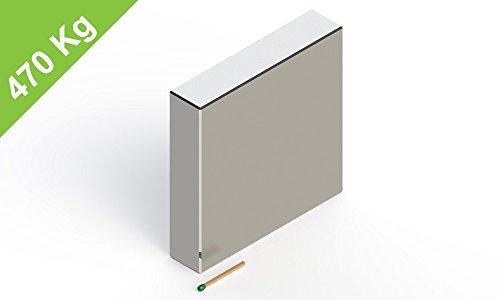 Neodym Quadermagnet, 90x90x20mm, vernickelt, Grade N52, Blockmagnete für Garage, Garten, Hobbyraum