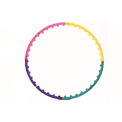 Great Price! TOMYEUS 4 Color Hoola Hoops Magnetic Massage Hoola Hoop for Fitness Exercises Detachabl...