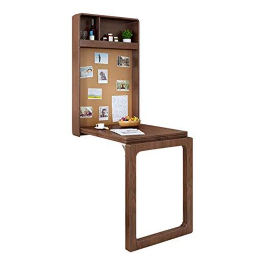 Mesa de comedor plegable nórdica Mesa de hojas abatibles montada en la pared para el hogar Mesa de comedor invisible, escritorio, bar Múltiples áreas de almacenamiento con pizarra Mesa de ahorro de e