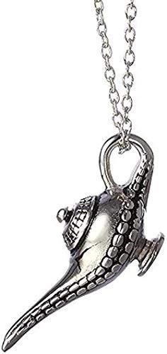 ZJJLWL Co.,ltd Collar 4 5 * 2Cm Personalidad Aladino lámpara mágica Colgante Collar Cuento de Hadas Collar Hombres y Mujeres joyería Regalo
