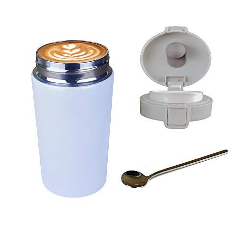 Travel mug,Taza de café de viaje, térmo de acero inoxidable con aislamiento de doble capa, adecuada para café frío/caliente, té y taza de café reutilizable.