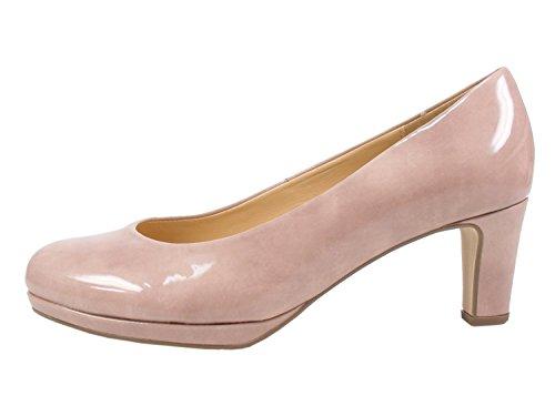 Gabor 91-260 Schuhe Damen Lack Plateau Pumps Weite F, Größe:39 EU, Farbe:Rosa