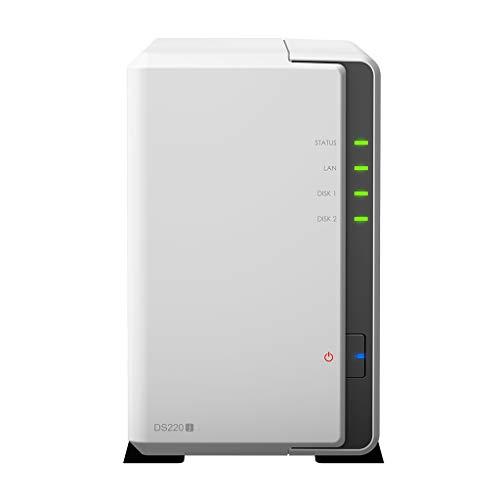 Synology DS220j 2 TB 2 Bay Desktop NAS-Lösung | Installiert mit 2 x 1 TB Western Digital Red Drives