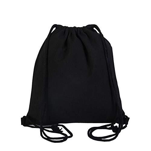 Mochila con cordón lavable de algodón orgánico respetuoso con el medio ambiente, bolsa de cuerda para compras, gimnasio, yoga