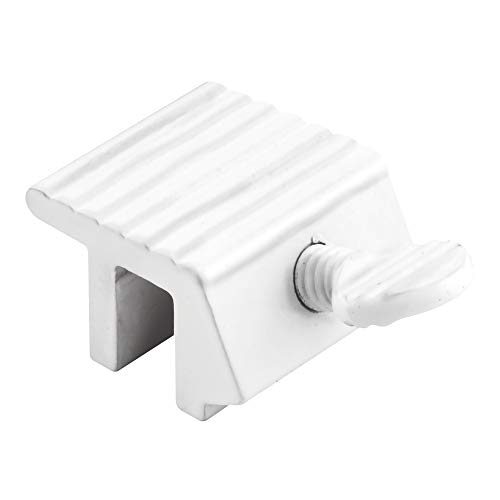 Defender Security U 9802 Sliding Window Lock, 1/4 in., Extruded Aluminum, White Painted Finish (Pack of 2)