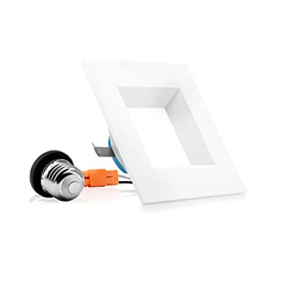 Parmida 4 inch Dimmable LED Square Retrofit Recessed Downlight, 9W