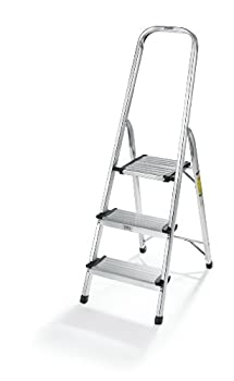 Polder LDR-3500RM Ultralight 3-Step Stool 52.5  Tall 24.5  Top Step Aluminum