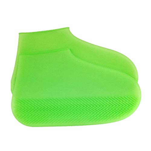Healifty Silicone Overshoes Shoe Covers Washable Reusable Guest Shoes Covers Snow Waterproof Rain Shoe Cases for Men Women Size L(Green)