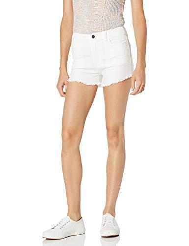 Armani Exchange Damen 8,6 Ounces Stretch Bull Shorts, Weiß (White Denim 0102), W(Herstellergröße:29)