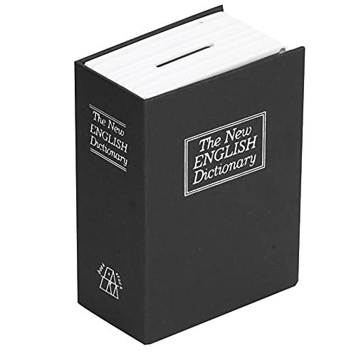 Diversion Safe Book Caja fuerte con cerradura de llave, caja fuerte oculta Caja de seguridad de libro secreto Caja de seguridad Caja de ahorro de dinero Caja de seguridad de diccionario para almacenam