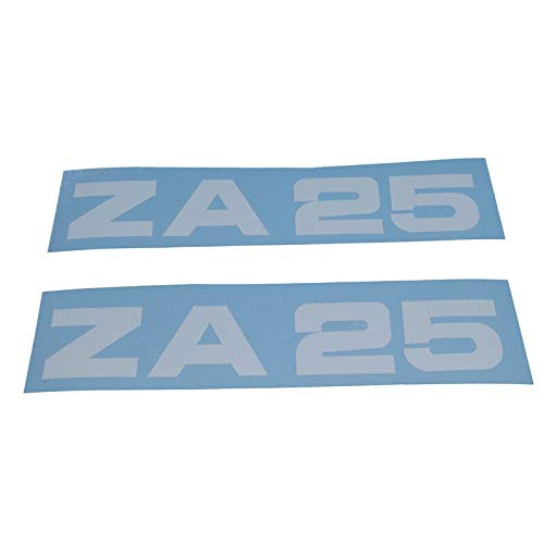 Zündapp ZA 25 Schriftzug Trittbrett Aufkleber, Ersatzteil Sticker Verkleidungs Schriftzug Dekor. Zum Oldtimer Restaurieren von Lack und Verkleidung. Alternativ zum Motorrad Emblem