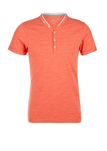 s.Oliver RED Label Herren Henleyshirt aus Jersey orange Melange XL