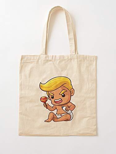 Rusia Trumtin Trump Blimp Baby Racism Anti Tote Cotton Very Bag | Bolsas de supermercado de lona Bolsas de mano con asas Bolsas de algodón duraderas