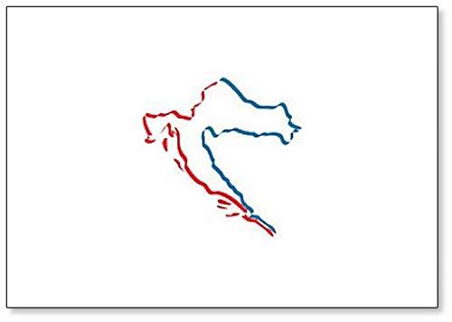 Kroatië Map Outline Koelkast Magneet