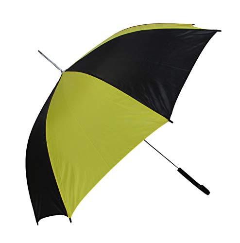 Automatik Schirm Stockschirm Regenschirm für Damen/Herren in schwarz/gelb