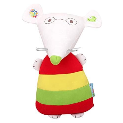 NUOBESTY Plysch mjuk leksak söt mus mjuk babydocka leksak ansikte gosa samlarobjekt oöverträffad krambar djur kudde kudde leksak för barn småbarn baby