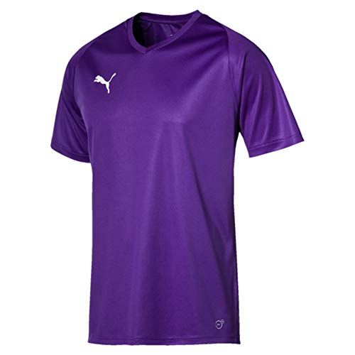 Puma Liga Cr H Camiseta de Manga Corta, Hombre, Morado (Prism Violet/Puma White), 44/46 (S)