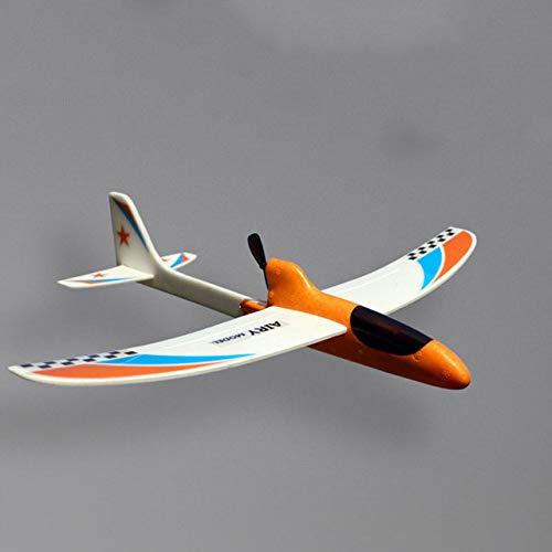 AXIANNV Hand Elektrosegelflugzeug DIY Airecraft Launch Glider Lernspielzeug für Kinder, orange