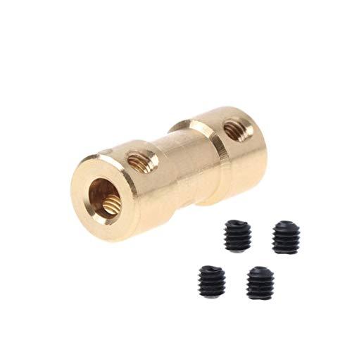 TANGJIANCHENG - Acoplador C de 2 a 5 mm para acoplador de eje de cobre del motor adaptador de manguito (diámetro interior: 3,17 3 mm)
